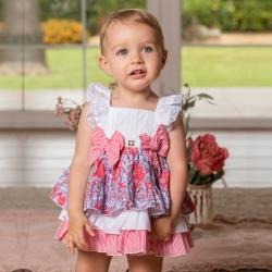 Dolce Petit Baby Girls White Red Floral Panty Dress Set 7a85b5fdb