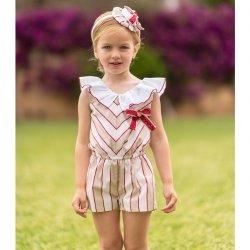 e1a37ff52 Dolce Petit Girls Caramel White Stripes Playsuit