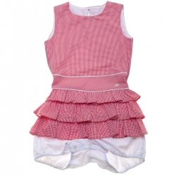 Dolce Petit Spring Summer Girls Red Gingham Playsuit