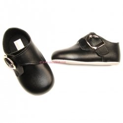 Cutest baby boys black shoes in matt