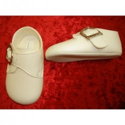 Cutest baby boy ivory shoes