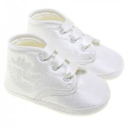 Baby Boys White Christening Shoes My Special Days