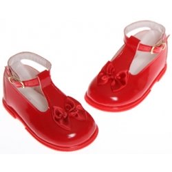 Baby girl red shoes red patent shoes with satin bow