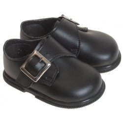 Baby boys black shoes in matt for special occasion