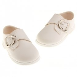 Baby Boys Ivory Shoes Buckle Fastening