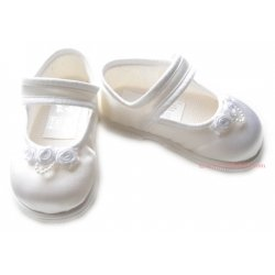 Baby Girls White Shoes First Walker