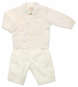Winter Warm Emile Et Rose Baby Boys Ivory 3 Piece Outfit