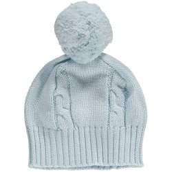 Emile et Rose Baby Blue Knitted Bobble Hat