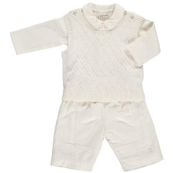 Baby Boys 3pc Set In Ivory By Emile Et Rose