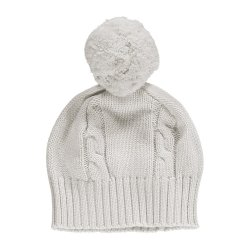 Emile et Rose Baby Ivory Knitted Bobble Hat