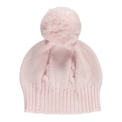 Emile et Rose Baby Grils Pink Knitted Bobble Hat