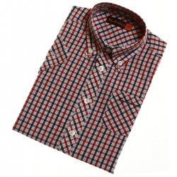 Ben Sherman boys shirt in classic red checks