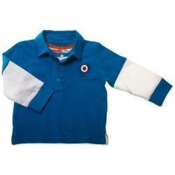 Ben Sherman Baby Boys Long Sleeve Polo in Royal Blue