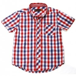 Ben Sherman Boys Shirt In Classic Red Gingham