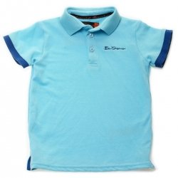 Ben Sherman Boys Polo Top In Iceland Blue