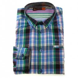 Ben Sherman Boys Shirt In Multi Colour Checked