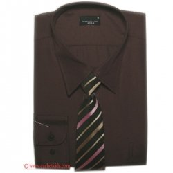 Boys brown shirt with tie