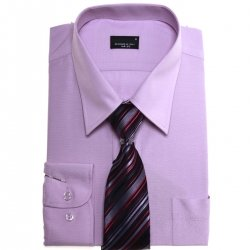 Premium Quality Boys Lilac Shirt With Tie For Formal Occasions
