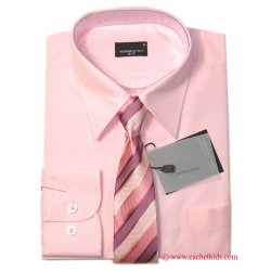 Boys Shirt High Quality Boys Pink Shirt With Tie