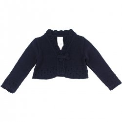 Girandola Baby Girls 100% Cotton Navy Bolero