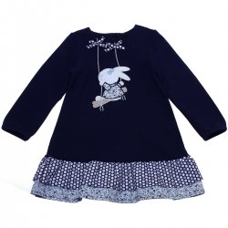 Girandola Baby Dress Sale Navy Dress