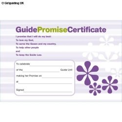 Guide Promise Certificate Card