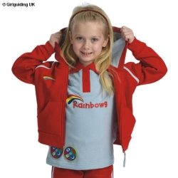 Rainbow Hooded Jacket In Red