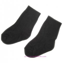 Baby boys black socks