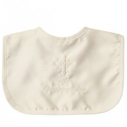 My Christening Day Ivory Bib For Boys And Girls