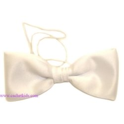Baby boy white bow tie