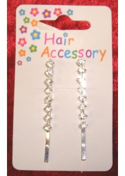 Pair of hair clip set with diamantes