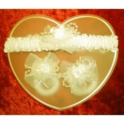 Ivory Hair Band Set
