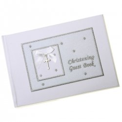 Baby boys And girls christening guest book