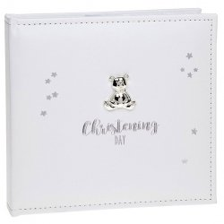 Baby Christening Teddy Stars Photo Album Keepsake Gift