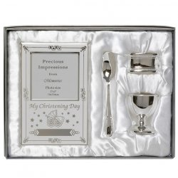 Baby Christening 4 Piece Silver Gift Set