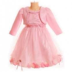 SALE Special occasions girls dress in pink with bolero