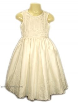 SALE Special occasions ivory dress with flowers and sequins