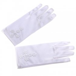 Daisy Flowers Cross Communion Gloves
