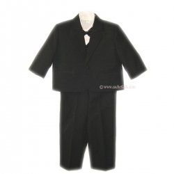 Baby boy black dinner jacket set baby wedding outfit