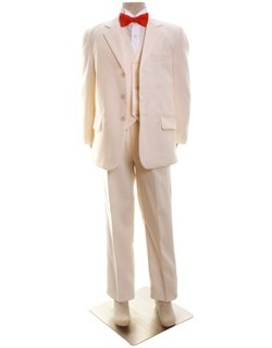 14e24351c Baby Boys Wedding Or Christening Outfit Cream Ivory Suit Black ...