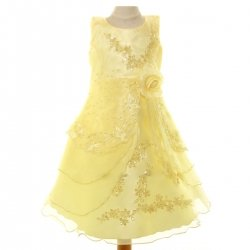 Girls Yellow Dress For Special Occasions