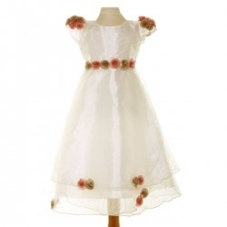 SALE Kids Bridesmaid or Flower Girls Ivory Dress