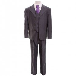 Boys grey three piece Beckham suit set