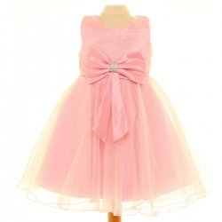 Special Occasions Pink Dress With Pink Bow