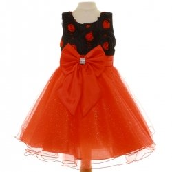 Special Occasions Sales Red Dress With Black Top Red Bow