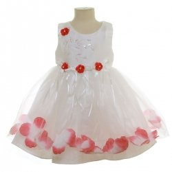 Baby Girls Flower Petals Ivory Dress