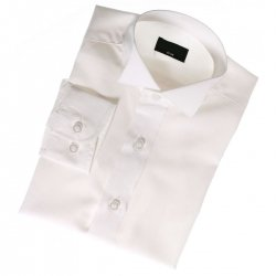 Baby boys white wing collar shirt for special occasions