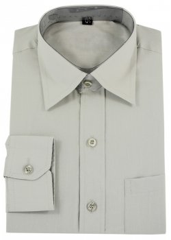 Boys Grey Shirt Boys Formal Dress Shirt In Grey