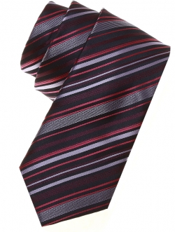 5 To 16 Years Boys Tie in brown Or purple Or lilac Or red Or black stripes