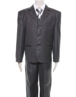 Boys Grey Suit Set Five Piece